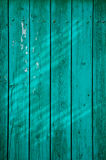 Aged painted wooden fence, naturally weathered Stock Photos