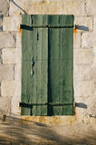 Aged painted wooden window, naturally weathered Royalty Free Stock Image