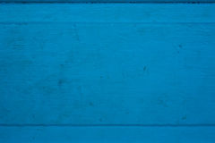 Aged Panel of Wood Painted Blue Stock Image