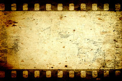 Aged paper. Background with a photo frame royalty free illustration