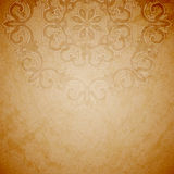 Aged paper background with round ornament. Aged paper background with round seamless ornament Stock Image