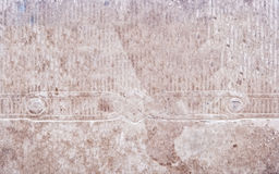 Aged paper with creases. Aged, yellowing paper with creases, stains and smudges Royalty Free Stock Photos