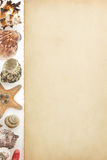 Aged paper and sea concept Royalty Free Stock Photography