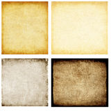 Aged paper set. Aged paper texture close up Royalty Free Stock Photography