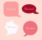 Aged paper speech bubbles vector illustration Stock Photos