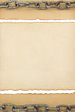 Aged paper texture on white Royalty Free Stock Photos