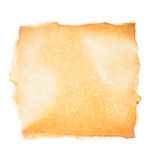 Aged paper on white. Empty aged paper isolated on white background royalty free stock images
