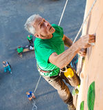 Aged Person Practicing Extreme Sport royalty free stock photos