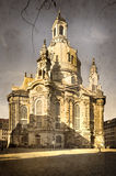 Aged phopto of Frauenkirche in Dresden Royalty Free Stock Photography