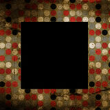 Aged photo frame. On texture Royalty Free Stock Images