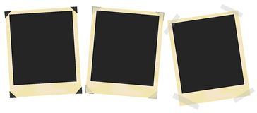 Aged Photo Frames. Set of blank vintage photo frames on white / Vector stock illustration