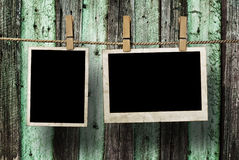 Aged photo frames Royalty Free Stock Images