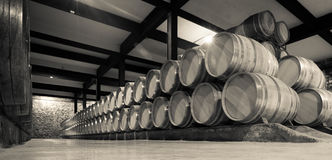 Aged photo of  wine cellar Stock Photos