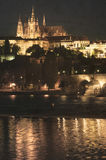 Aged picture of Old Prague at night Royalty Free Stock Photography