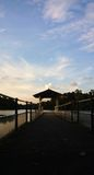 Aged Pier - Reservoir. Should always go outdoor, go for refresh Stock Image