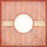 Pink vintage lace frame Royalty Free Stock Image