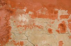 Aged plastered wall. stock photos