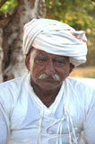 An aged poor Villager in Kutch, Gujarat, India Stock Photography