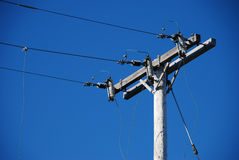 Aged Power Line Royalty Free Stock Photography
