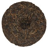 Aged raw puerh cake Royalty Free Stock Photography