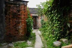 Aged red brick dwelling houses. Chengdu,China Royalty Free Stock Images