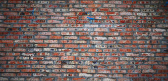 Aged red brick wall background Stock Photos