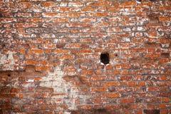 Aged red brick wall background. Vintage bricks, gray seam. Aged red brick wall background. Vintage bricks, gray seam royalty free stock photos