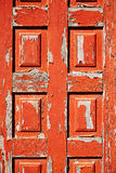 Aged red door in Fuerteventura Canary Islands Royalty Free Stock Photos