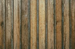 Old wooden fence background texture. Aged rough rustic vertical brown color planks as a wall or floor background texture Royalty Free Stock Photography