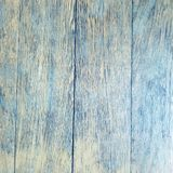 Aged rustic wooden board background texture in yellow and blue Royalty Free Stock Photos