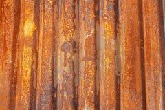 Aged rusty corrugated metal sheet Royalty Free Stock Image