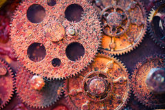 Aged rusty gear wheels Stock Photos