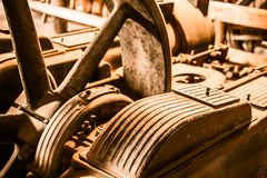 Aged Rusty Machinery Royalty Free Stock Photography