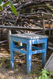 Aged rusty stool Royalty Free Stock Images