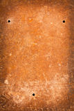 Aged and rusty texture. Old blue and orange grunge painted texture stock images