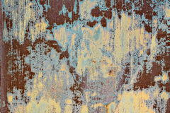 Aged and rusty texture. Old blue and orange grunge painted texture royalty free stock images