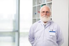 Aged scientist or doctor Royalty Free Stock Image