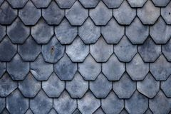 Free Aged Slate Roof Tiles Close-up Royalty Free Stock Photo - 160183655