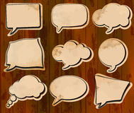 Aged speech bubbles Royalty Free Stock Photos