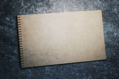 Aged spiral notepad Stock Image