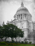 Aged St. Paul's Cathedral in modern times Stock Photos