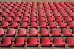 Aged stadium grandstand stands pattern Royalty Free Stock Photos