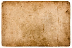 Aged stained paper sheet isolated on white background royalty free stock photo