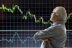 Aged stock trader Stock Image
