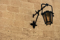 Aged street lamp Stock Images