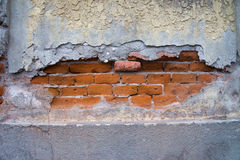 Aged street wall background. Damaged wall, best to use as background Stock Image