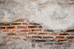 Aged street wall background, old red brick texture background Stock Photos