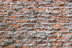 Aged street wall background, old red brick texture background Stock Photo