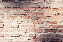 Aged street wall background, old red brick texture background Royalty Free Stock Photos