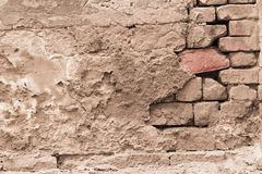 Aged street wall background, texture Royalty Free Stock Image